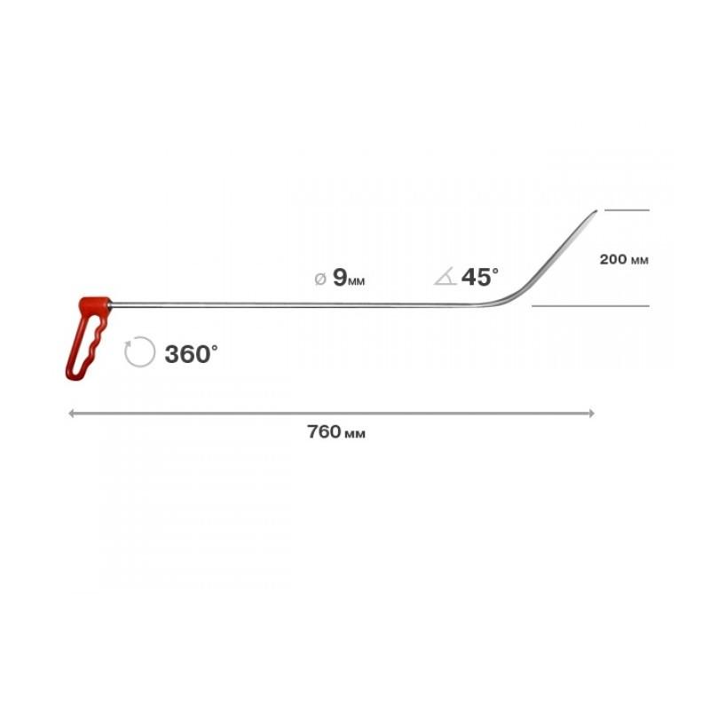 Drehgriffhaken, 9mm, lange Spitze