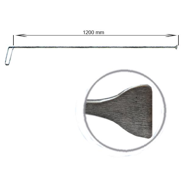 Strebenhaken, L = 1200 mm