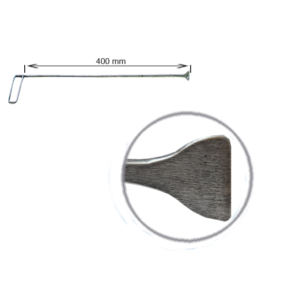 Strebenhaken, L = 400 mm