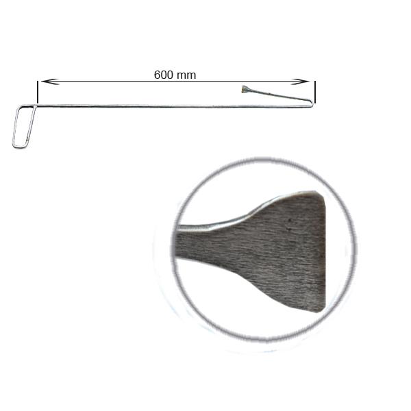 Strebenhaken, L = 600 mm, abgewinkelt